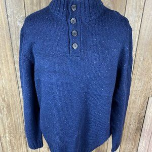 Nautica Mens Navy Blue Knitted Sweater Size XXL 1/